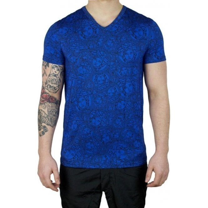7401dd624 Versus Versace|Versus Versace Underwear Medusa Head T-Shirt in Blue ...